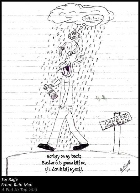Monkey on my Back Haiku by Rain Man sent to Rage